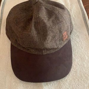 New cremieux hat brown tweed size s NWT